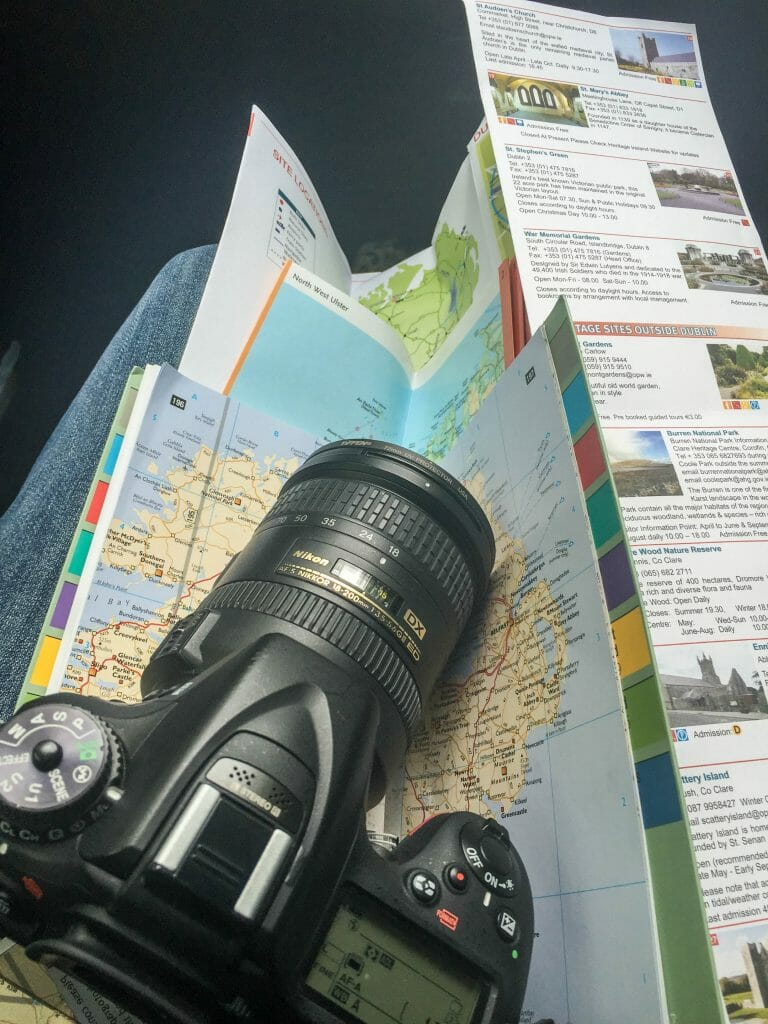 Camera and map reflects independent  planning. The maps is part of the tools needed.