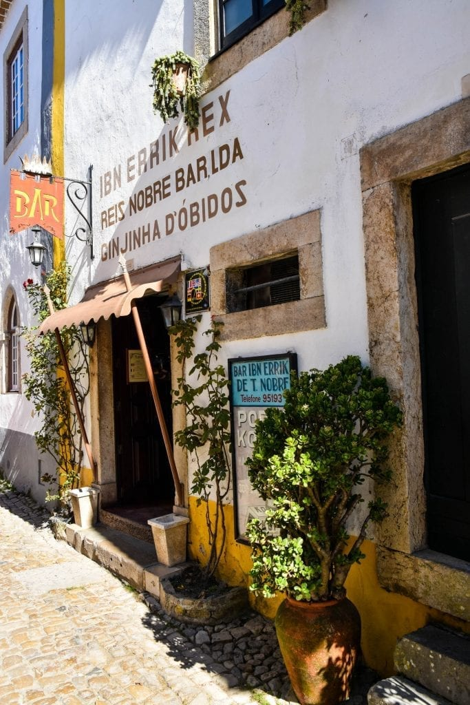 Bar in Obidos, Portugal