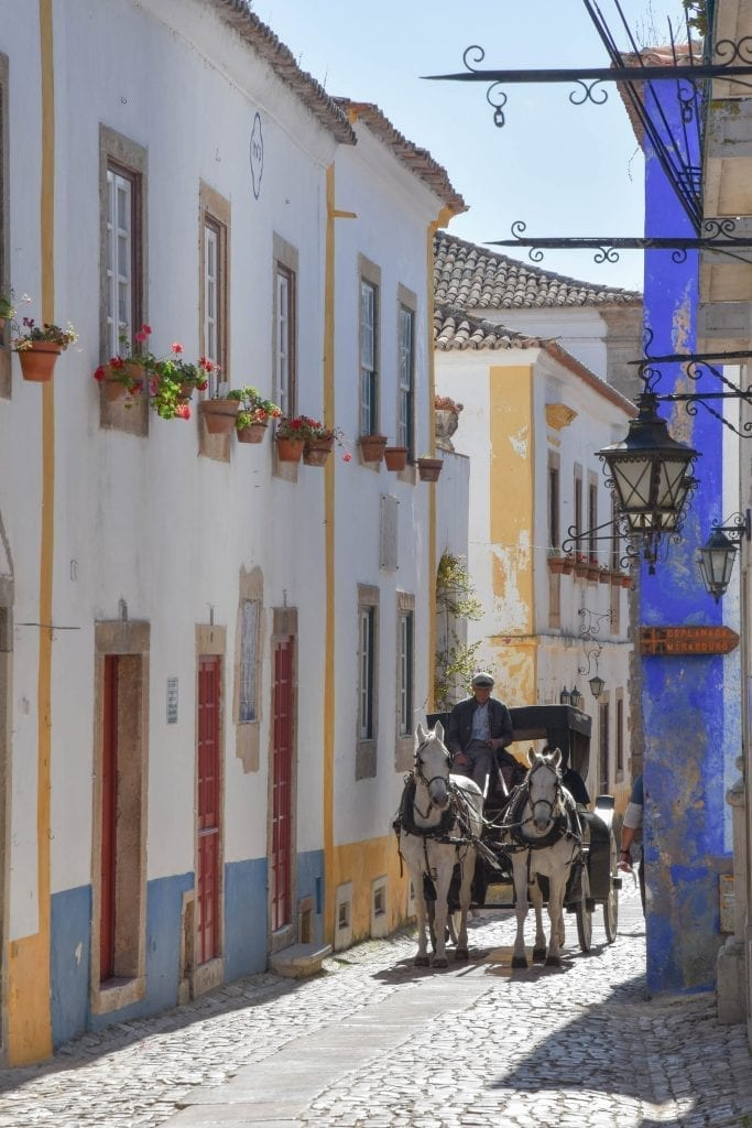Horse and carriage in Obidos