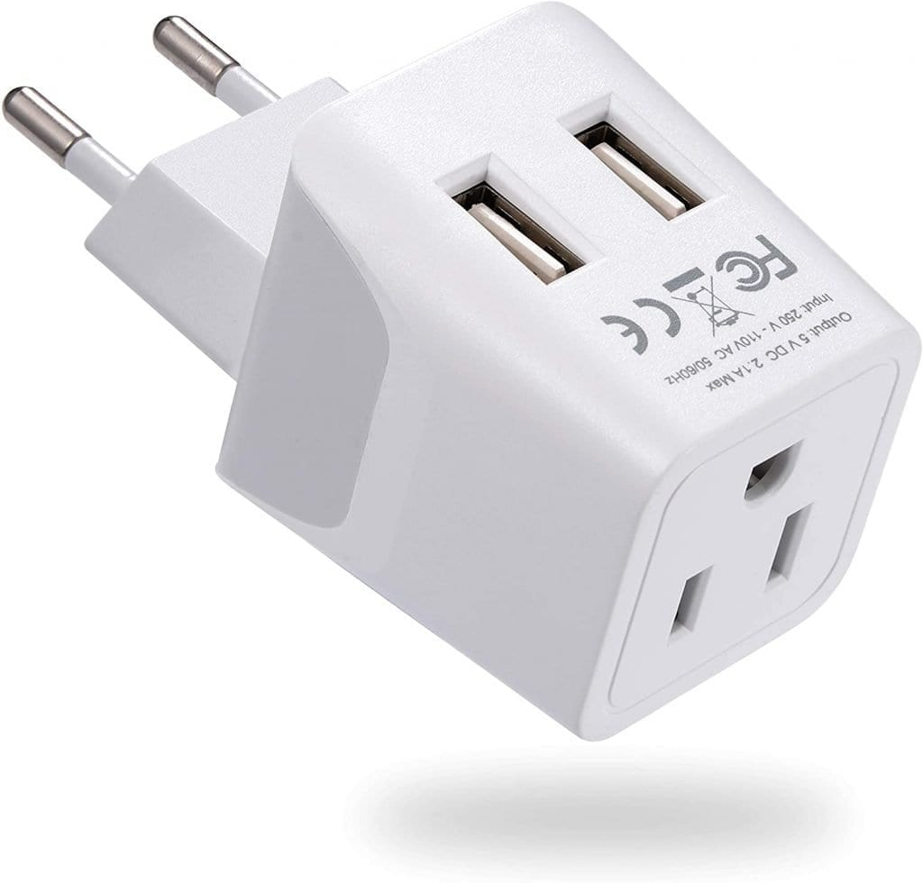 Adapter with dual USB