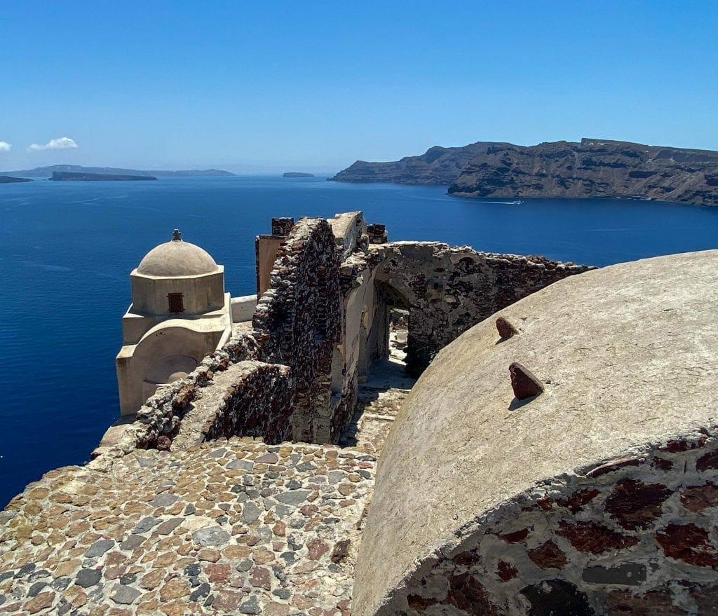 Oia Castle Santorini Greece