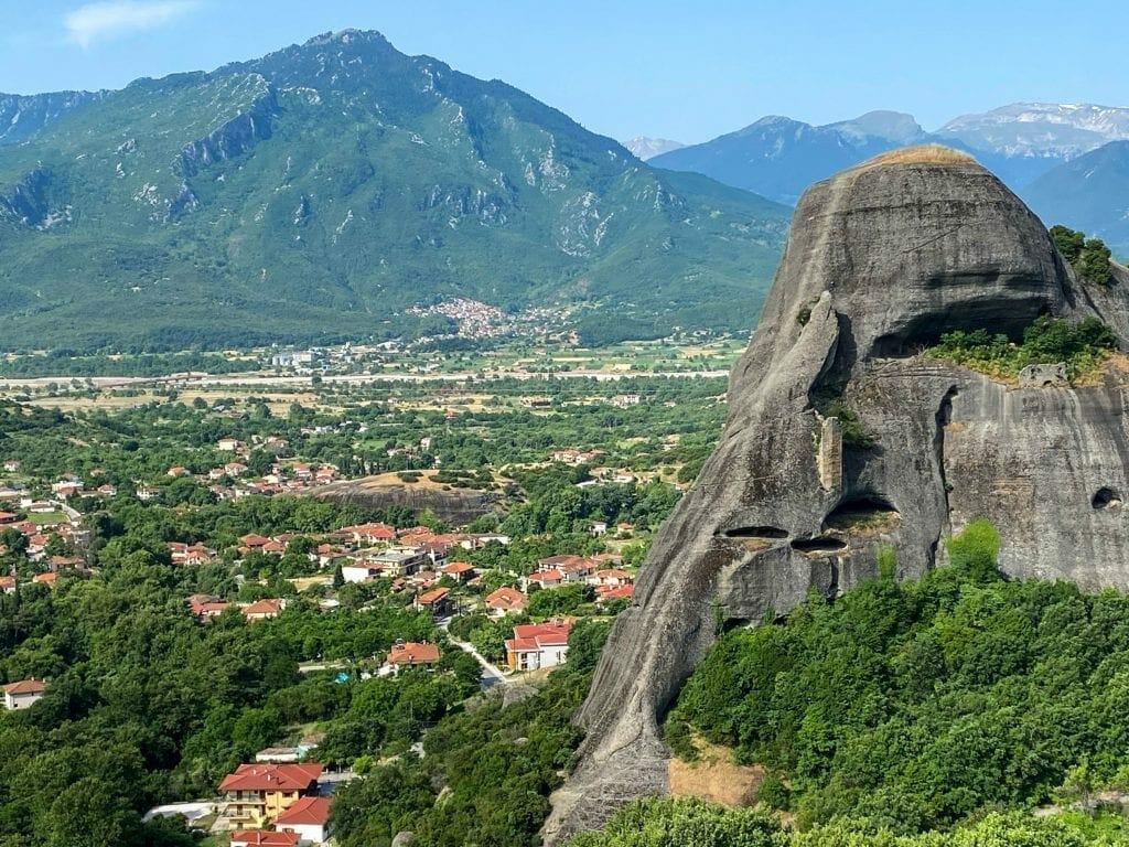 Valley below Meteora Monasteries
