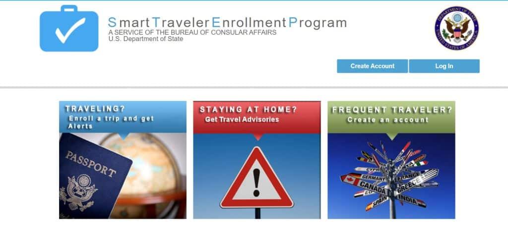 Smart Traveler Enrollment Program (STEP) Home Page